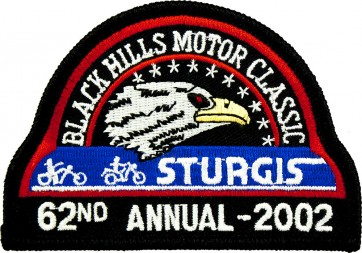 62nd 2002 Sturgis Motorcycle Rally Official Past Year Event Patches