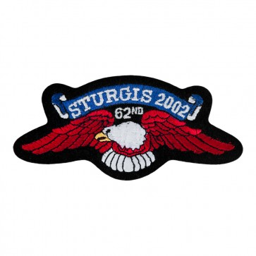 Official Sturgis 2002 62nd Eagle Wings Iron On Patch