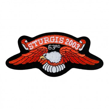 2003 Sturgis 63rd Annual Official Eagle Wings Iron On & Sew On Event Patch