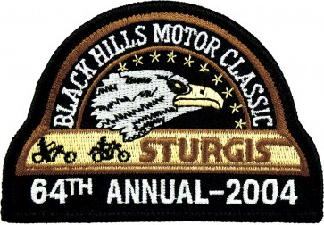 64th 2004 Sturgis Motorcycle Rally Official Past Year Event Patches