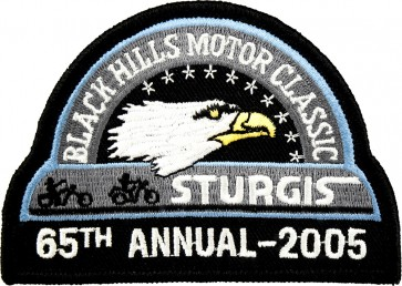 65th 2005 Sturgis Motorcycle Rally Official Past Year Event Patches