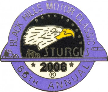 Official Sturgis 2006 Black Hills Motor Classic Eagle Pin, Official Sturgis Pins