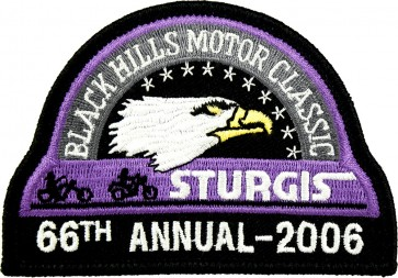 66th 2006 Sturgis Motorcycle Rally Official Past Year Event Patches