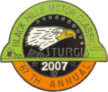 2007 Sturgis 67th Black Hills Motor Classic Eagle Pin