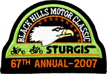 67th 2007 Sturgis Motorcycle Rally Official Past Year Event Patches