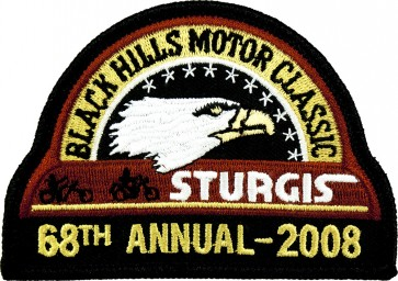 68th 2008 Sturgis Motorcycle Rally Official Past Year Event Patches