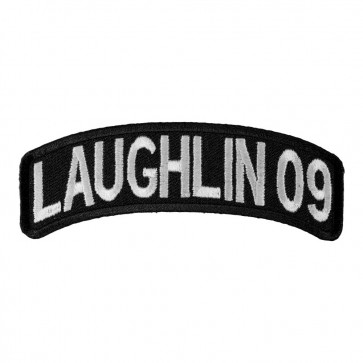 Embroidered 2009 Laughlin White Rocker Event Patch