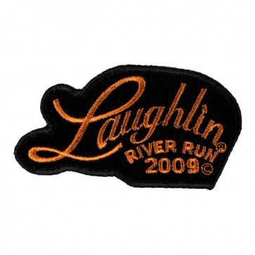 2009 Laughlin River Run Orange Script 27th Anniversary Event Patch
