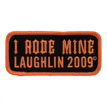 Sew O n & Iron On 2009 Laughlin I Rode Mine Orange Event Patch