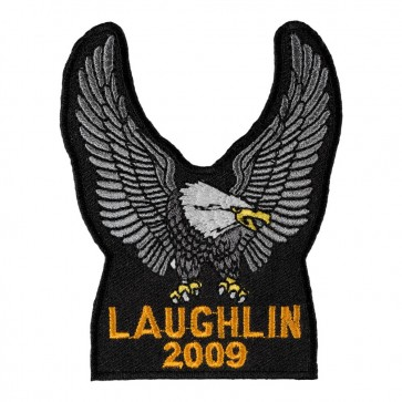 Iron On 2009 Laughlin River Run Silver Eagle Upwing Event Patch