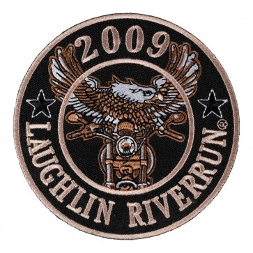 Embroidered 2009 Laughlin River Run Eagle Biker Round Event Patch