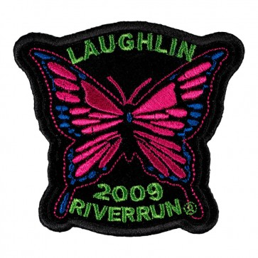 Sew On 2009 Laughlin River Run Pink Butterfly Event Patch