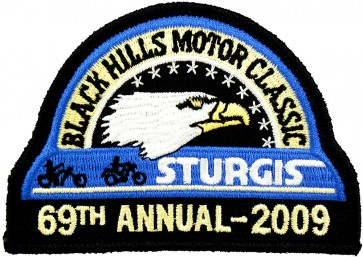 69th 2009 Sturgis Motorcycle Rally Official Past Year Event Patches