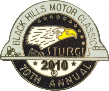 Official Sturgis 2010 Black Hills Motor Classic Eagle Pin, Official Sturgis Pins