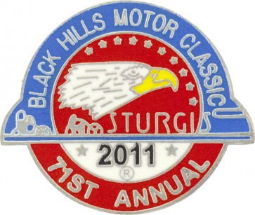 Official Sturgis 2011 Black Hills Motor Classic Eagle Pin, Official Sturgis Pins