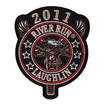 2011 Laughlin River Run Eagle Biker Round Tab 29th Anniversary Event Patch