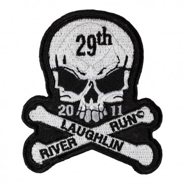 Embroidered 2011 Laughlin River Run Skull & Crossbones White Event Patch