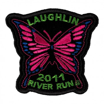 2011 Laughlin River Run Pink Butterfly 29th Anniversary Event Patch