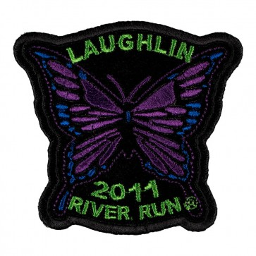 Sew On 2011 Laughlin River Run Purple Butterfly Event Patch