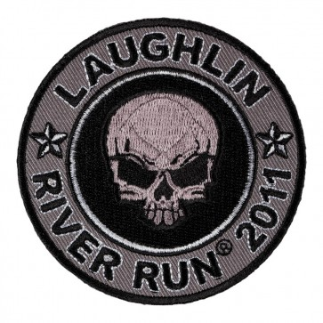 2011 Laughlin River Run Grey Skull Round 29th Anniversary Event Patch