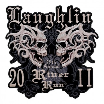 29th Annual 2011 Laughlin River Run Large Dueling Marble Skull Event Patch