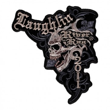 Sew On 2011 Laughlin River Run Marble Skull Event Patch
