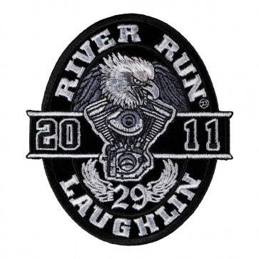 29th Annual 2011 Laughlin River Run Black Oval Eagle Event Patch
