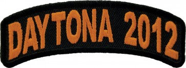 2012 Daytona Bike Week Orange Rocker Event Patch
