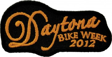 2012 Daytona Bike Week Orange Script Event Patch