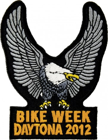 2012 Daytona Bike Week Silver Eagle Upwing Event Patch
