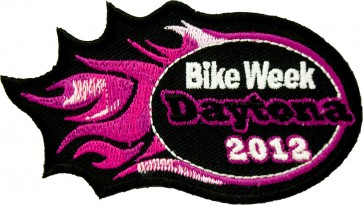 2012 Daytona Bike Week Pink Flames Event Patch