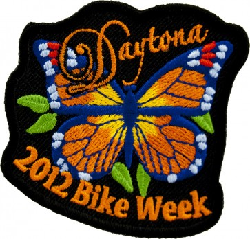 2012 Daytona Bike Week Orange Butterfly Event Patch
