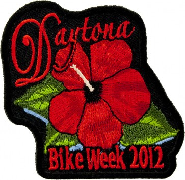 2012 Daytona Bike Week Red Flower Event Patch