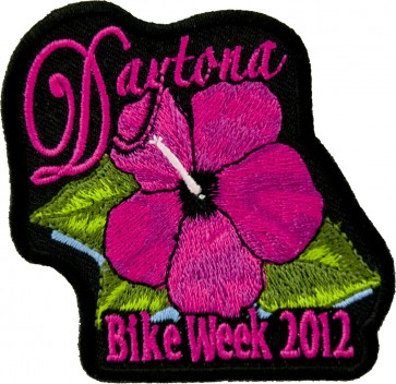 2012 Daytona Bike Week Pink Flower Pink Event Patch