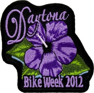 2012 Daytona Bike Week Purple Flower Event Patch