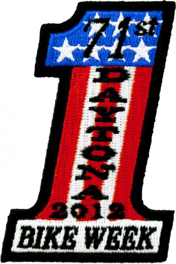 2012 Daytona Bike Week 71st US Flag #1 Event Patch