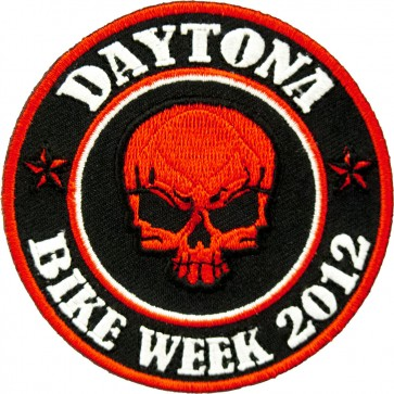 2012 Daytona Bike Week Red Skull Round Event Patch