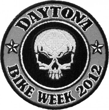 2012 Daytona Bike Week Grey Skull Round Event Patch