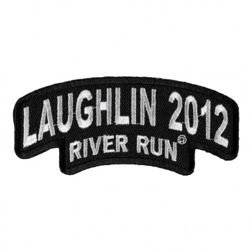 Sew On 2012 Laughlin River Run Stacked White Rocker Event Patch