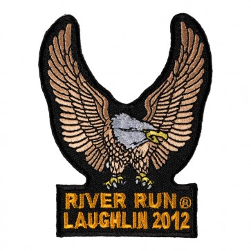 Sew On 2012 Laughlin River Run Brown Eagle Upwing Event Patch