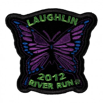 Sew On 2012 Laughlin River Run Purple Butterfly Event Patch