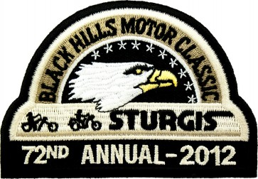 72nd 2012 Sturgis Motorcycle Rally Official Past Year Event Patches