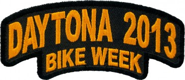 2013 Daytona Bike Week Stacked Orange Rocker Event Patch