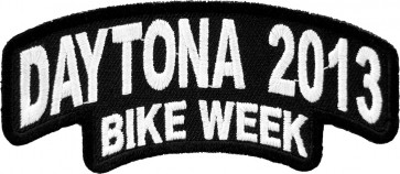 2013 Daytona Bike Week Stacked White Rocker Event Patch