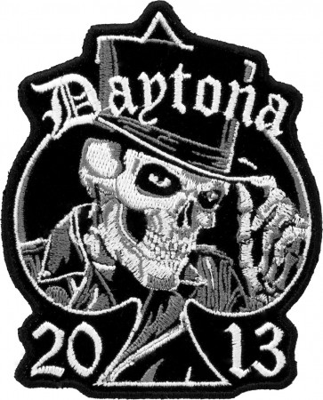 2013 Daytona Bike Week Top Hat Skull Spade Event Patch