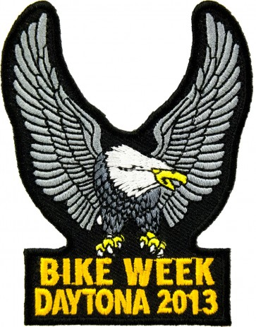 2013 Daytona Bike Week Silver Eagle Upwing Event Patch