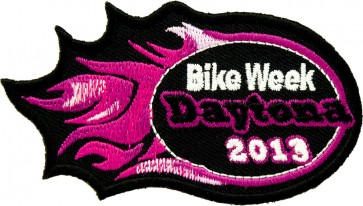 2013 Daytona Bike Week Pink Flames Event Patch