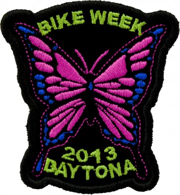2013 Daytona Bike Week Pink Butterfly Event Patch