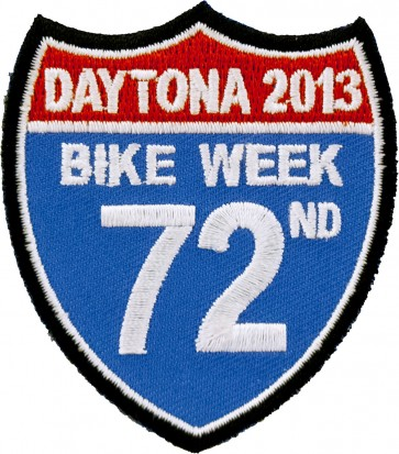 2013 Daytona Bike Week 72nd Road Sign Event Patch