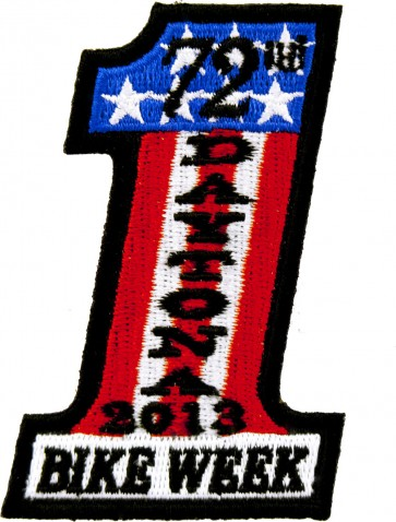 2013 Daytona Bike Week 72nd US Flag #1 Event Patch